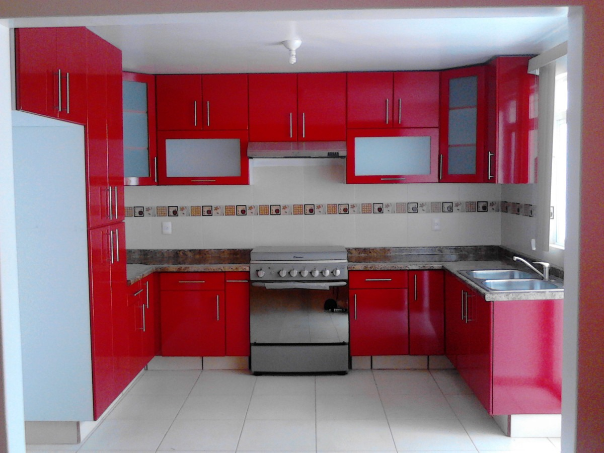 Cocinas modernas rojas cocinas modernas rojas with - Cocinas rojas modernas ...